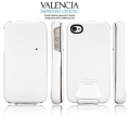SGP Leather Case Valencia Swarovski Series for iPhone 4, 4S [White] (SGP06884)